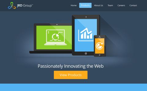 Screenshot of Home Page jrdgroup.com - JRD Group - Passionately innovating the web - captured Sept. 30, 2014