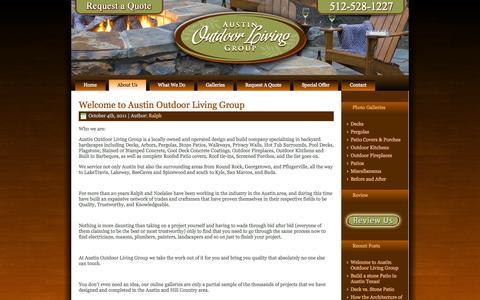 Screenshot of Blog austinoutdoorliving.com - Blog - Austin Outdoor Living - captured Oct. 5, 2014
