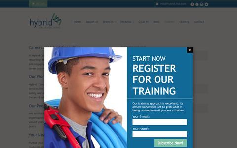 Screenshot of Jobs Page hybrid-hse.com - Hybrid-HSE  CAREERS - Hybrid-HSE - captured Oct. 3, 2014
