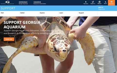 Screenshot of Support Page georgiaaquarium.org - Support | Experience | Georgia Aquarium - captured May 17, 2017