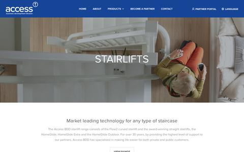 Screenshot of Products Page accessbdd.com - Product Ranges Archive | Access BDD - captured Oct. 2, 2018
