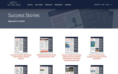 Screenshot of Case Studies Page earthnetworks.com - Customer Success Stories | Earth Networks - captured May 9, 2017