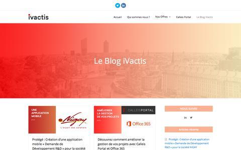 Screenshot of Blog ivactis.com - Le Blog iVactis – iVactis - captured Sept. 20, 2018