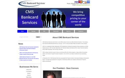 Screenshot of About Page cmsbankcard.com - Learn About CMS Bankcard Services - captured Oct. 1, 2014
