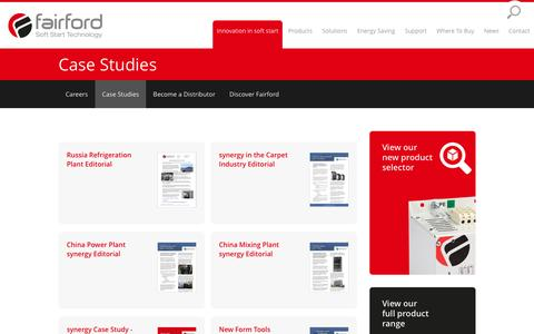 Screenshot of Case Studies Page fairford.com - Case Studies | Fairford Soft Starters - captured Nov. 24, 2016