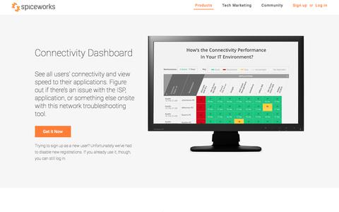 Troubleshoot critical network applications - Connectivity Dashboard