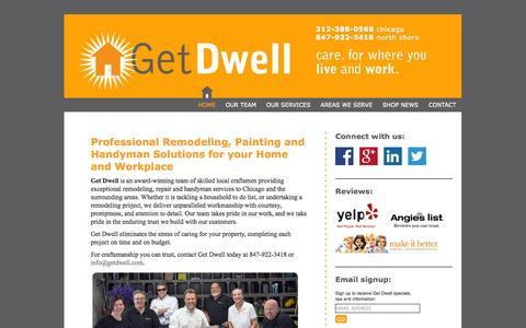Screenshot of Home Page getdwell.com - Get Dwell - captured Sept. 29, 2014