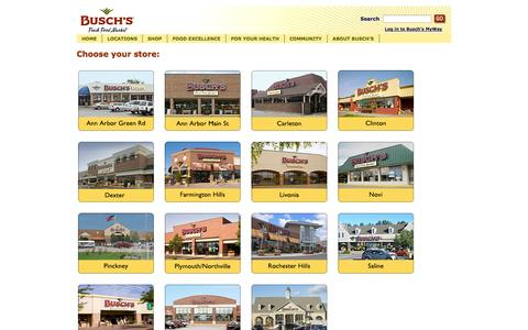 Screenshot of Locations Page buschs.com - Stores - captured Oct. 5, 2014