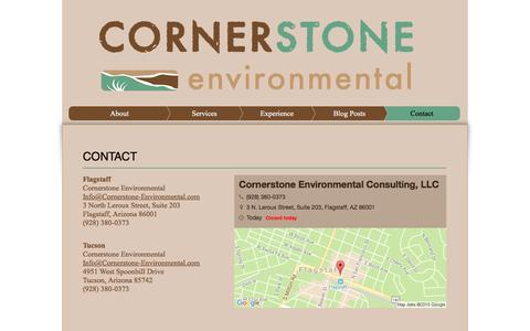 Screenshot of Contact Page cornerstone-environmental.com - Contact Cornerstone Environmental Consulting - captured Nov. 12, 2016