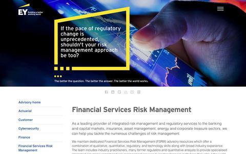 Screenshot of Services Page ey.com - EY Advisory - Financial Services Risk Management - EY - Global - captured Nov. 1, 2017