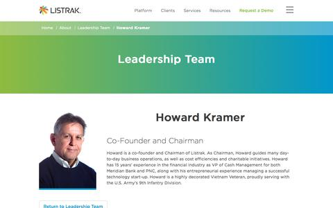 Howard Kramer | Leadership Team | Listrak