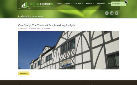Screenshot of Case Studies Page greeneconome.com - Green EconoME   » Portfolio Categories » Case Studies - captured May 24, 2017