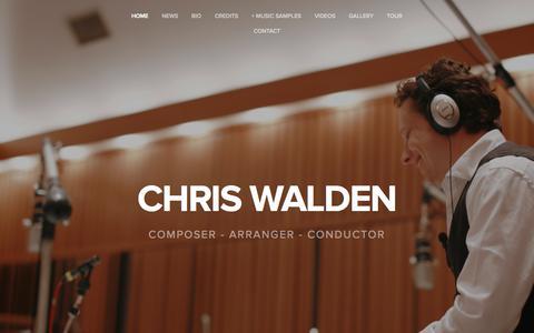 Screenshot of Home Page chriswalden.com - Chris Walden - captured Oct. 9, 2015