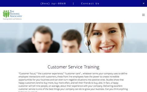 Screenshot of Support Page thetrainingassociates.com - Customer Service Training —  The Training Associates - captured Jan. 3, 2017