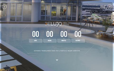 Screenshot of Home Page delujo.pe - De Lujo Real Estate - captured Sept. 12, 2015