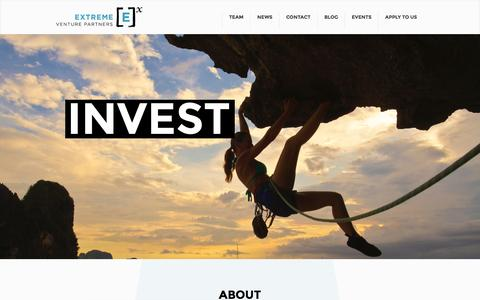 Screenshot of Home Page extremevp.com - Extreme Venture Partners | Build Invest Grow - captured Oct. 3, 2014
