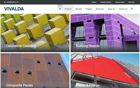Screenshot of Products Page vivalda.co.uk - Products - VIVALDA - captured Nov. 30, 2016