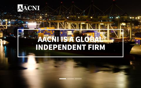 Screenshot of Home Page aacni.com - Aacni - captured Feb. 4, 2016