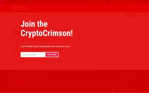 Screenshot of Contact Page cryptocrimson.com - Contact us - CryptoCrimson - captured June 22, 2018
