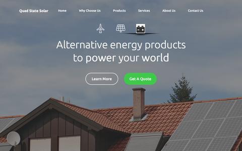 Screenshot of Home Page quadstatesolar.com - Quad State Solar - captured Aug. 1, 2017