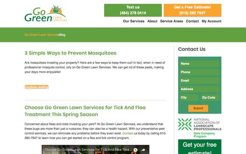 Screenshot of Blog gogreenlawnservices.com - Go Green Lawn Care Articles | GoGreen Lawn Services - captured July 20, 2018