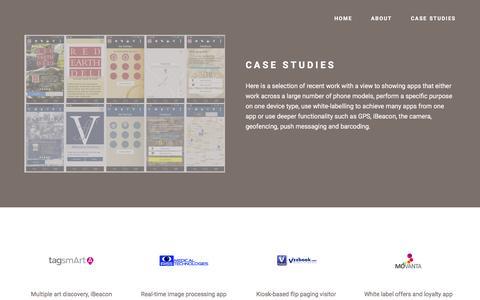 Screenshot of Case Studies Page simonjudge.com - Simon Judge, UK Android Developer - captured Feb. 16, 2016