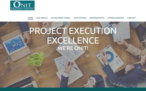 Screenshot of Home Page onitmc.com - Management Consulting Seattle WA - captured Sept. 4, 2015