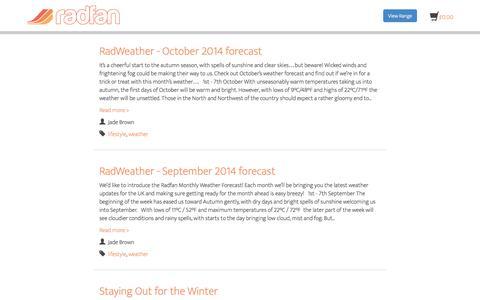 Screenshot of Press Page radfan.com - Radfan Blog - captured Oct. 29, 2014