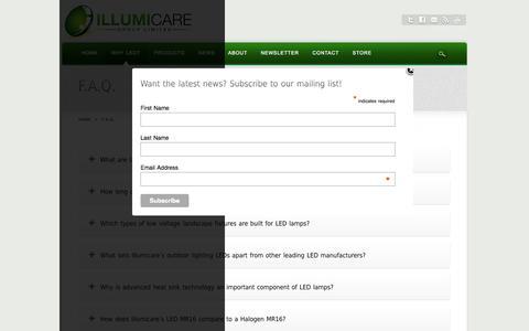 Screenshot of FAQ Page illumicaregroup.com - F.A.Q. - captured Oct. 6, 2014