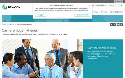 Screenshot of Jobs Page hexagonmi.com - Carrièremogelijkheden | Hexagon Manufacturing Intelligence - captured Oct. 21, 2018