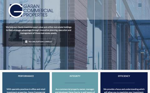 Screenshot of Services Page garancommercial.com - Commercial Real Estate Services Company Houston Texas - captured Nov. 10, 2018