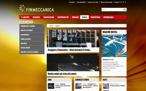 Screenshot of Press Page finmeccanica.com - Media - Finmeccanica - finmeccanica - captured Sept. 23, 2014