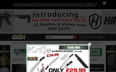 Screenshot of Home Page gunmart.net - Guns For Sale UK   Militaria   Accessories & Reviews   Gun Mart Magazine - captured Oct. 18, 2018