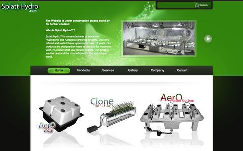 Screenshot of Products Page splatthydro.com - Splatt Hydro Products - captured Oct. 7, 2014