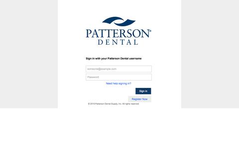 Screenshot of Login Page pattersoncompanies.com - Sign In - captured Dec. 10, 2019