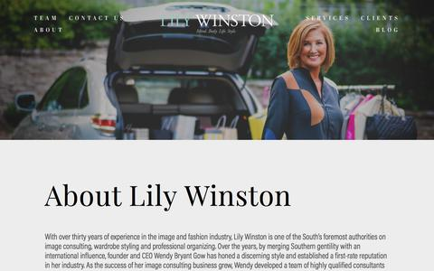 Screenshot of About Page lilywinston.com - About x — Lily Winston - captured July 20, 2018