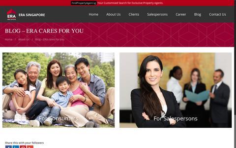 Screenshot of Blog era.com.sg - Blog – ERA cares for you | ERA Realty Network Singapore - captured May 30, 2018
