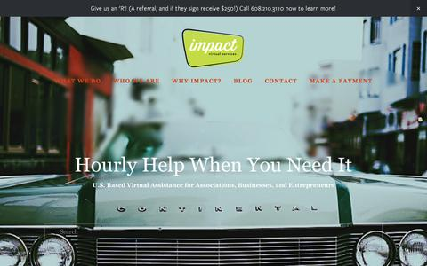 Screenshot of Home Page impactvs.com - impact Virtual Services - captured June 7, 2017