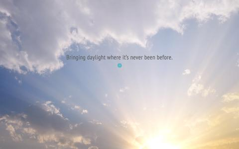 Screenshot of Home Page arborlight.com - Arborlight: Bringing daylight where it's never been before - captured July 26, 2016
