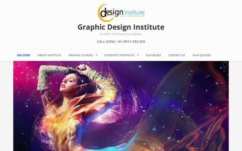 Screenshot of Home Page graphic-design-institute.com - Graphic Designing Institute in Delhi | Best Graphic Design Courses in Delhi - captured June 3, 2016