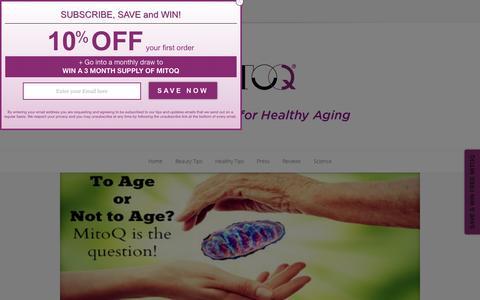 Screenshot of Blog mitoq.com - MitoQ Blog - Healthy Ageing Tips, News & Reviews - captured Feb. 14, 2016
