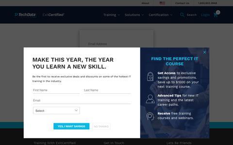 Screenshot of Login Page exitcertified.com - Login - captured Nov. 5, 2018