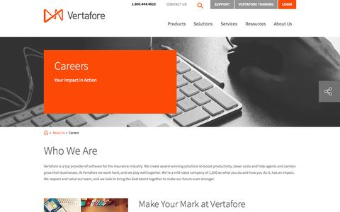 Screenshot of Jobs Page vertafore.com - Learn more about a Vertafore job | Vertafore - captured Sept. 19, 2014