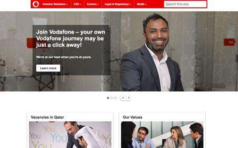 Screenshot of Jobs Page vodafone.qa - Vodafone Qatar   Careers   vodafone.qa - captured Nov. 30, 2016