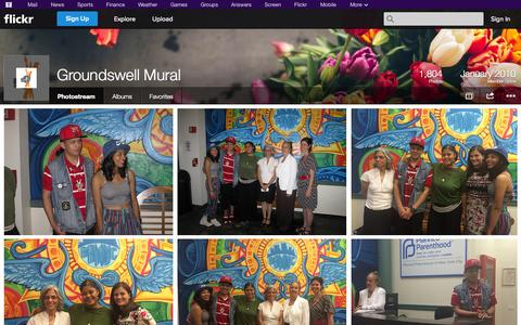 Screenshot of Flickr Page flickr.com - Flickr: Groundswell Mural's Photostream - captured Oct. 23, 2014
