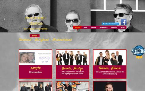 Screenshot of Home Page montreal-dance.de - MONTREAL-dance die Partyband, Eventband, Tanzband, Hochzeitsband - captured June 13, 2018