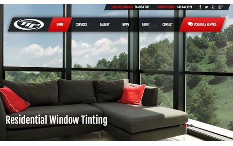 Screenshot of Home Page thetintpros.com - The Tint Pros | Automotive, Residential and Commercial Window Tinting - - captured Sept. 21, 2018