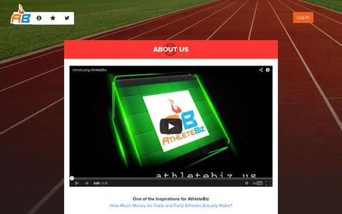 Screenshot of About Page athletebiz.us - AthleteBiz - captured Sept. 30, 2014