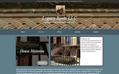 Screenshot of Services Page legacyroots.com - Legacy Roots | Services - captured July 17, 2018