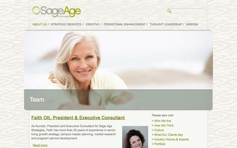 Screenshot of Team Page sageagestrategies.com - Team | Sage Age Strategies - captured Sept. 30, 2014